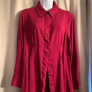 Peck & Peck button-down blouse w/back button
